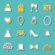 Set Of Hand Drawn Wedding Stickers - GraphicRiver Item for Sale