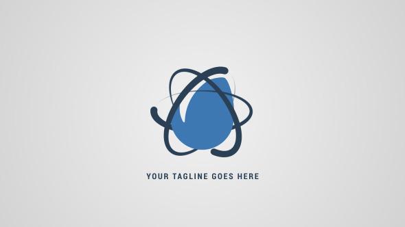Simple Atom Logo Reveal