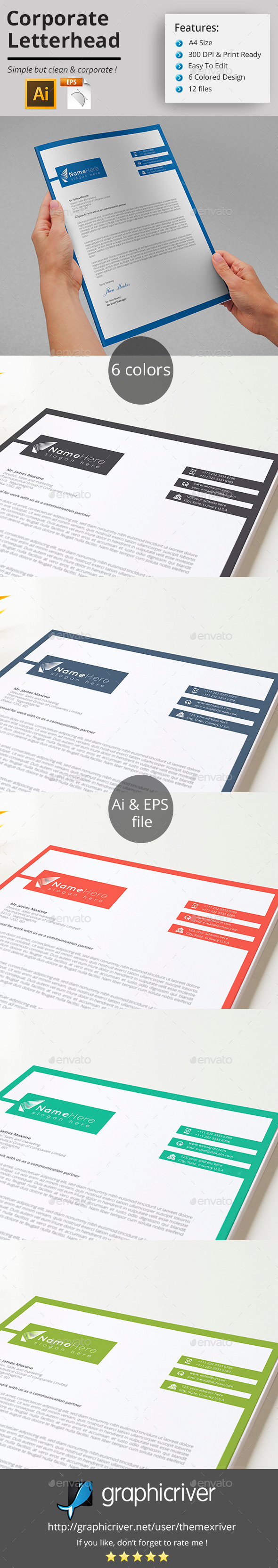GraphicRiver Corporate Letterhead 11498046