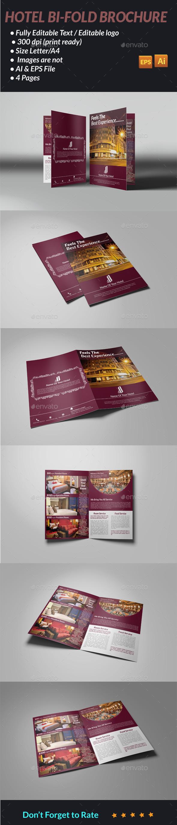 GraphicRiver Hotel Bi-Fold Brochure 11498245
