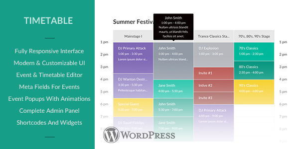 CodeCanyon Responsive Timetable for Wordpress 11498444
