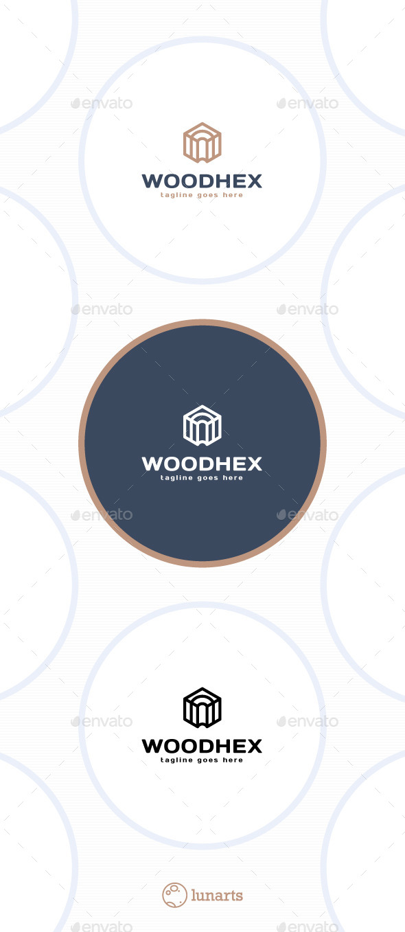 GraphicRiver Wood Hex Logo 11498970