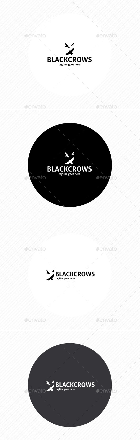 GraphicRiver Black Crows Logo 11499147