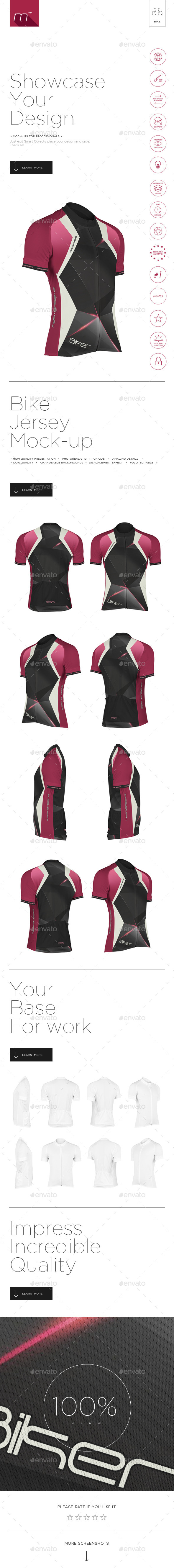 GraphicRiver Bike Jersey Mock-up 11499170
