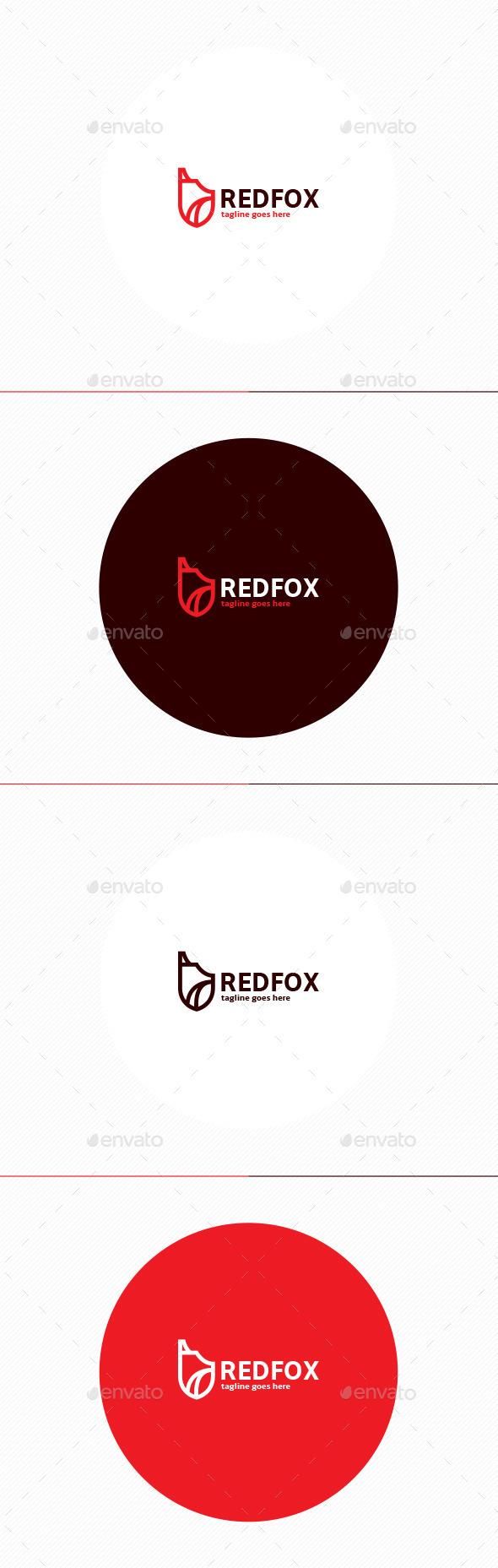 GraphicRiver Red Fox Logo 11499182