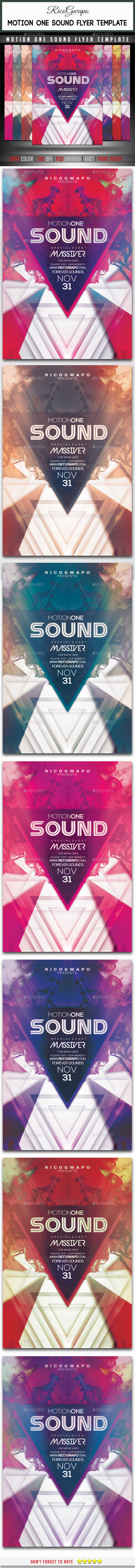 GraphicRiver Motion Sound Flyer Template 11499193
