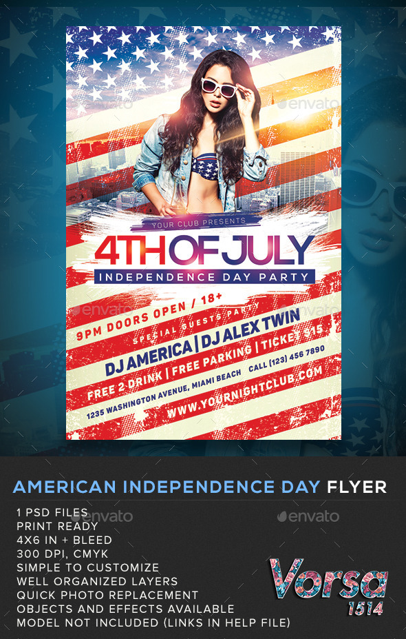 GraphicRiver American Independence Day Flyer 11499412