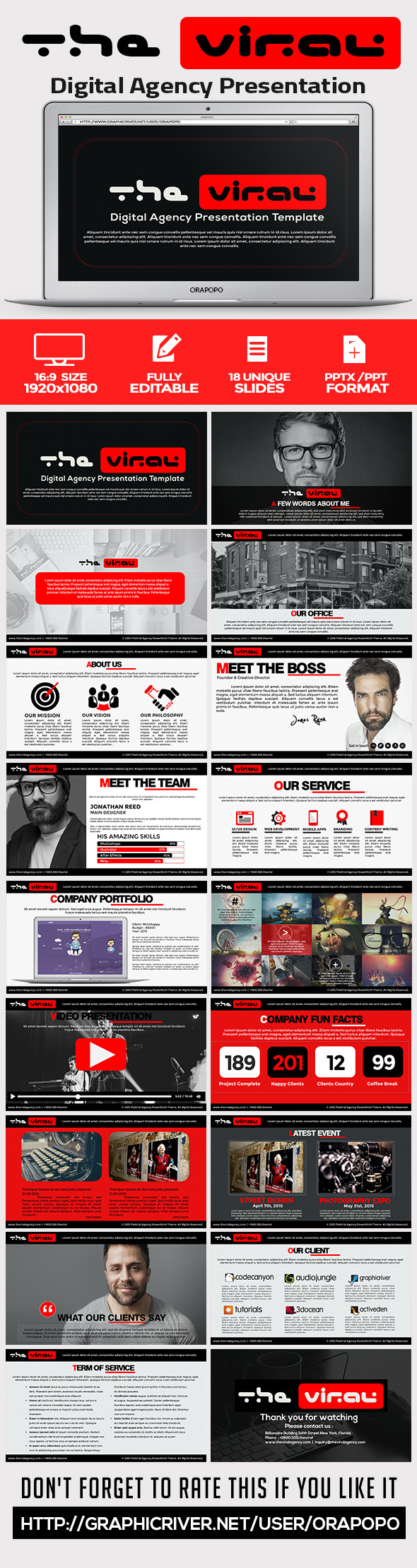 GraphicRiver The Viral Digital Agency Presentation Template 11452475
