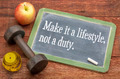 Make it a lifestyle, not a duty - PhotoDune Item for Sale
