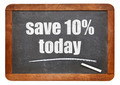 Save 10% today offer on blackboard - PhotoDune Item for Sale