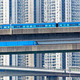 high speed train on bridge in hong kong downtown city - PhotoDune Item for Sale