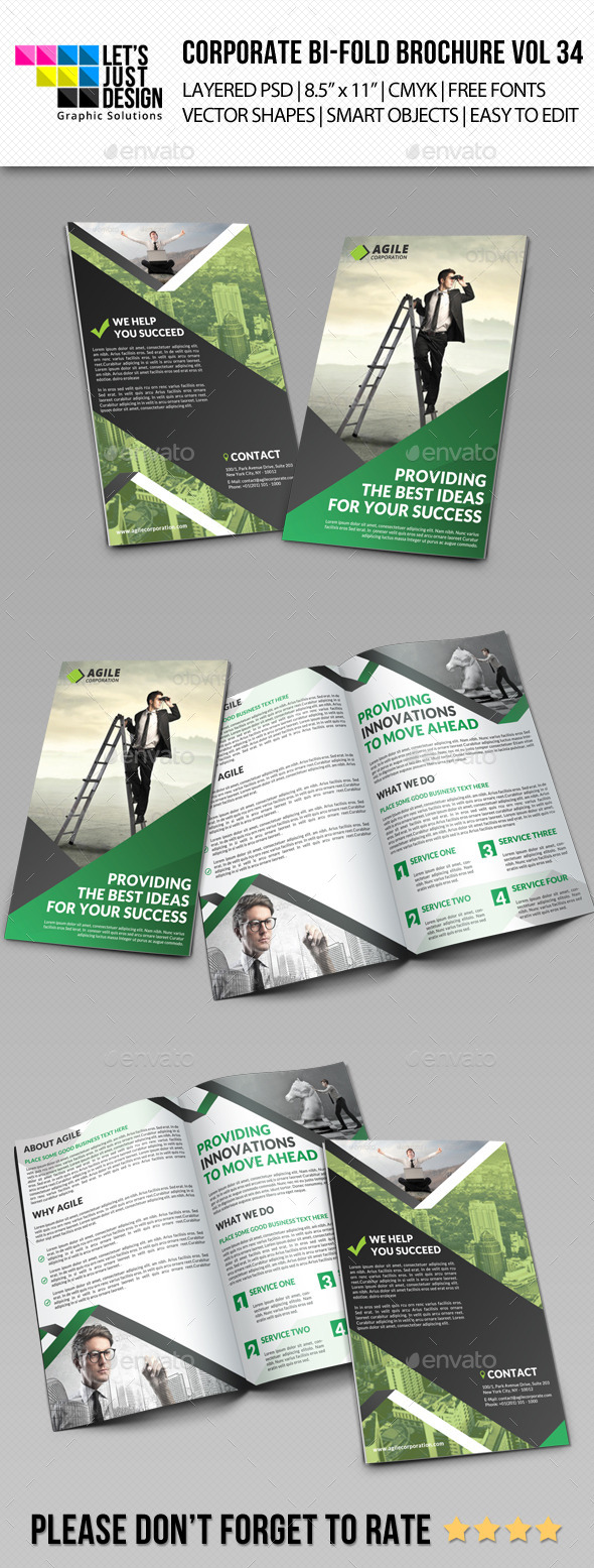 GraphicRiver Creative Corporate Bi-Fold Brochure Vol 34 11499589