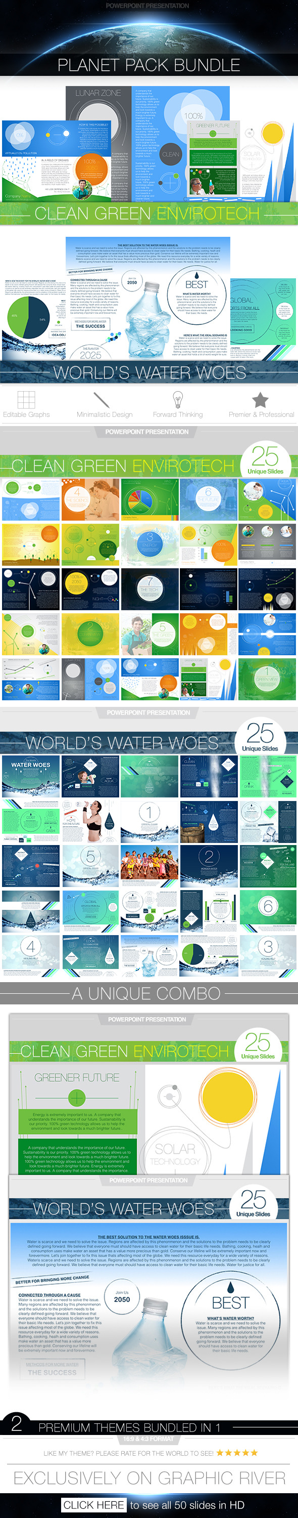 GraphicRiver Planet Pack PowerPoint Presentation Bundle 11499596