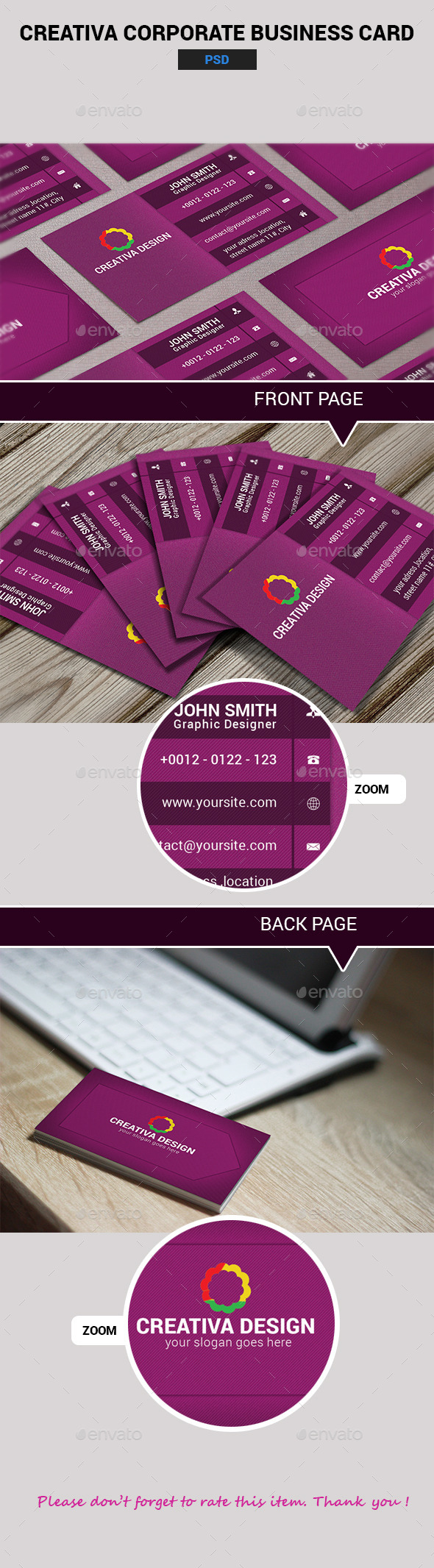 GraphicRiver Creativa Corporate Business Card 11499604