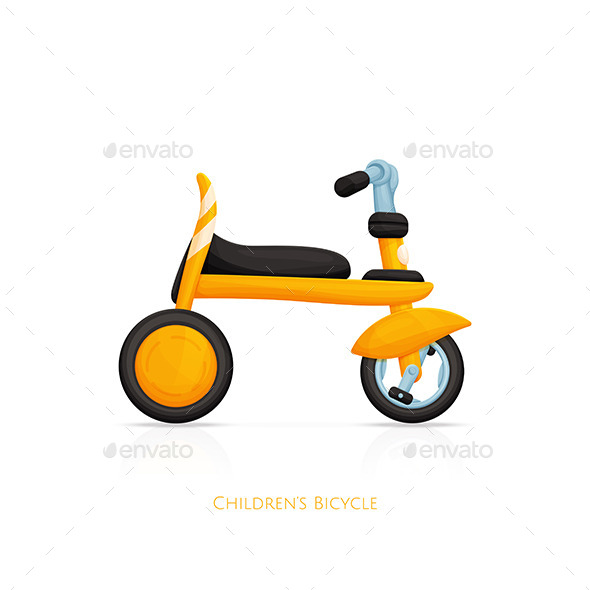 GraphicRiver Childrens Bicycle One 11499843
