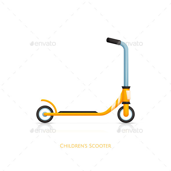 GraphicRiver Childrens Scooter Two 11499848