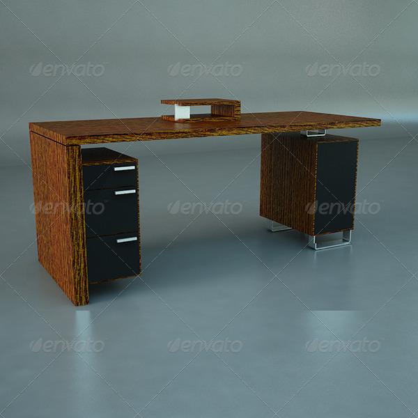 3DOcean Modern Computer Desk 141935