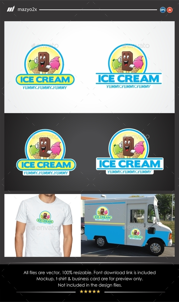 GraphicRiver Ice Cream Logo 11490388