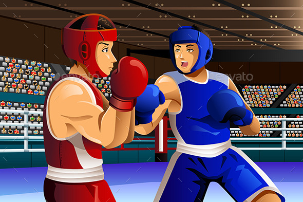GraphicRiver Boxers Fighting in Ring 11500959