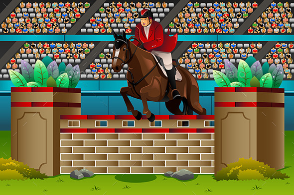 GraphicRiver Equestrian in the Competition 11500962