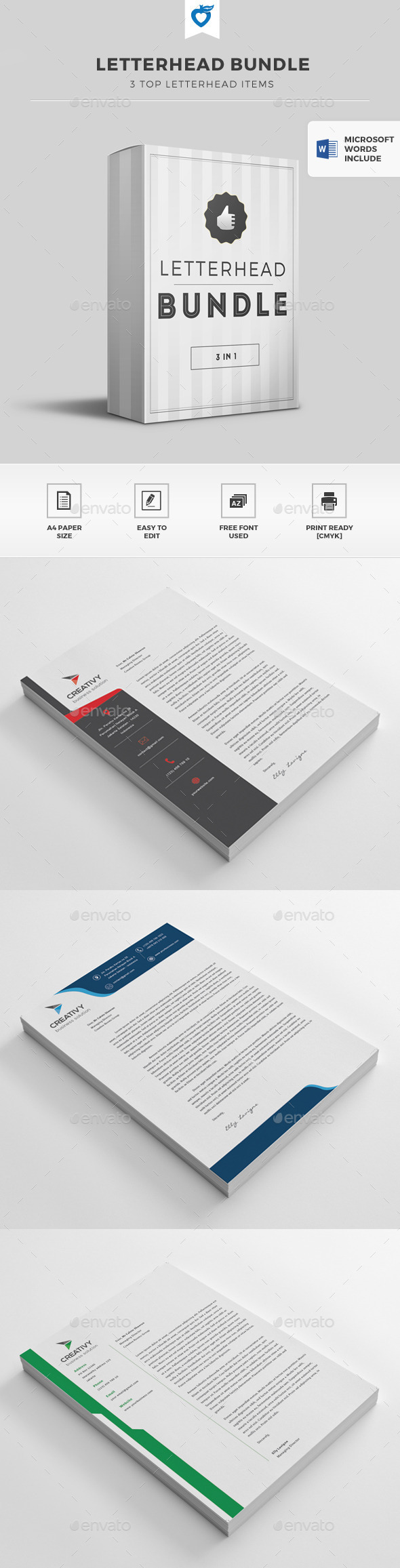 GraphicRiver Letterhead Bundle 11501010
