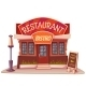 Vector Illustration Of Restaurant And Bistro - GraphicRiver Item for Sale