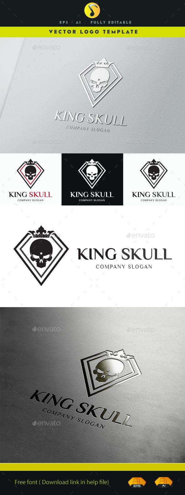 GraphicRiver King Skull Logo 11501119