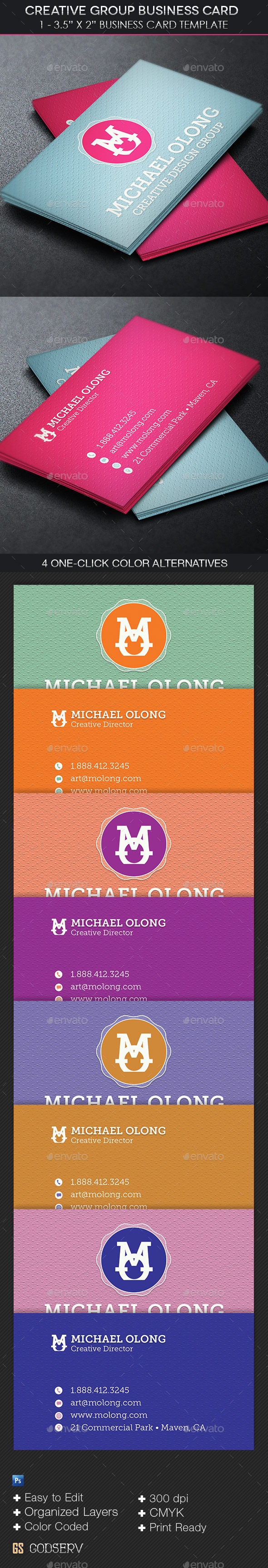 GraphicRiver Creative Group Business Card Template 11501125