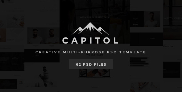 ThemeForest Capitol Creative Multi-Purpose PSD Template 11231456