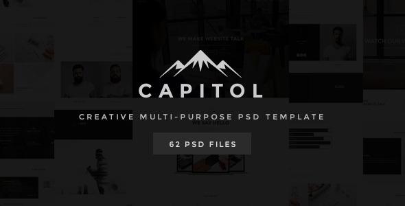 ThemeForest Capitol Creative Multi-Purpose PSD Template 11231456