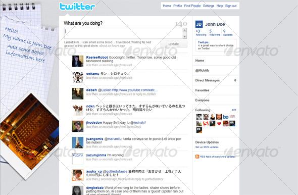Side Note Twitter Background - Twitter Social Media