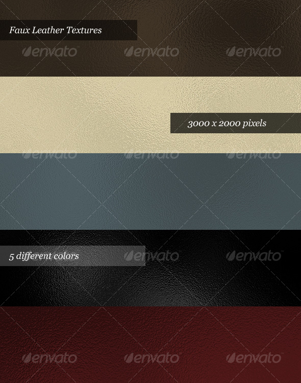 Leather Textures (Pack of 5) - Backgrounds Graphics