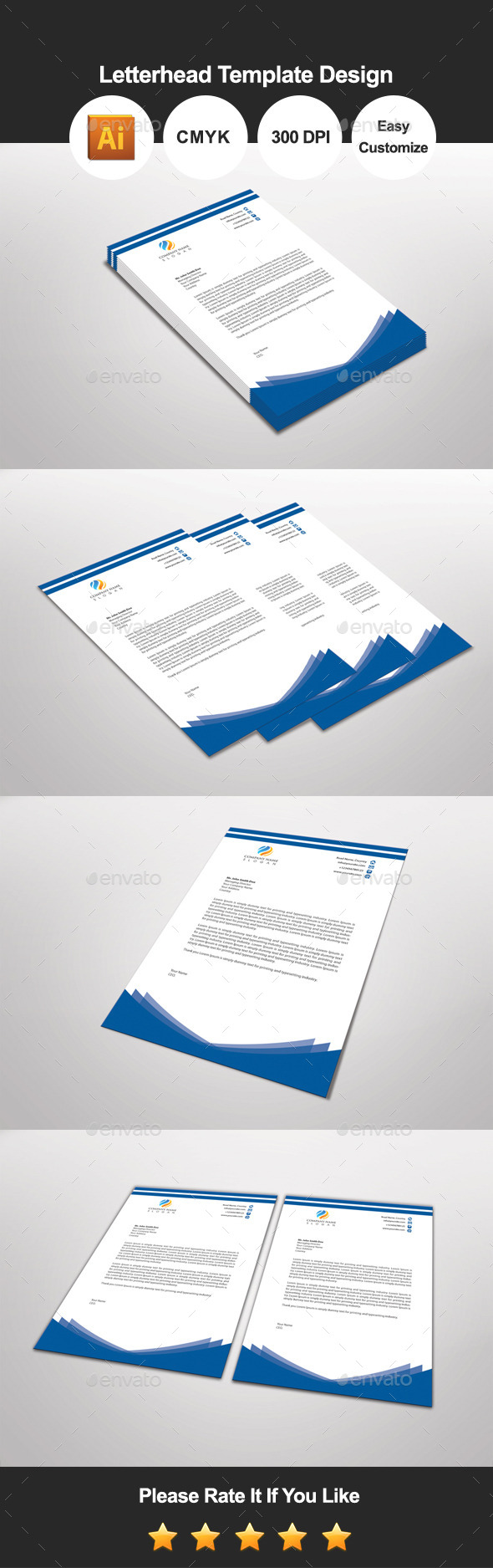 GraphicRiver Bluebuilder Letterhead Template Design 11502866