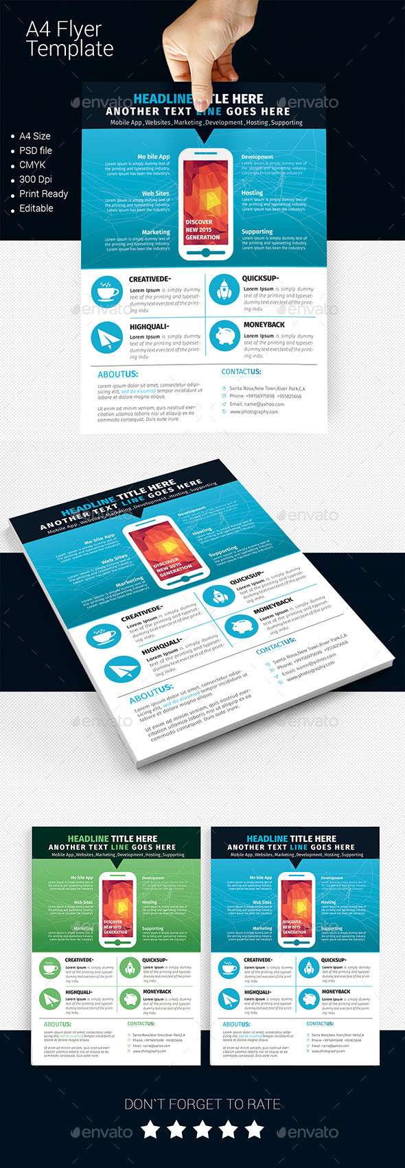 GraphicRiver A4 Business Flyer Template 06 11503177