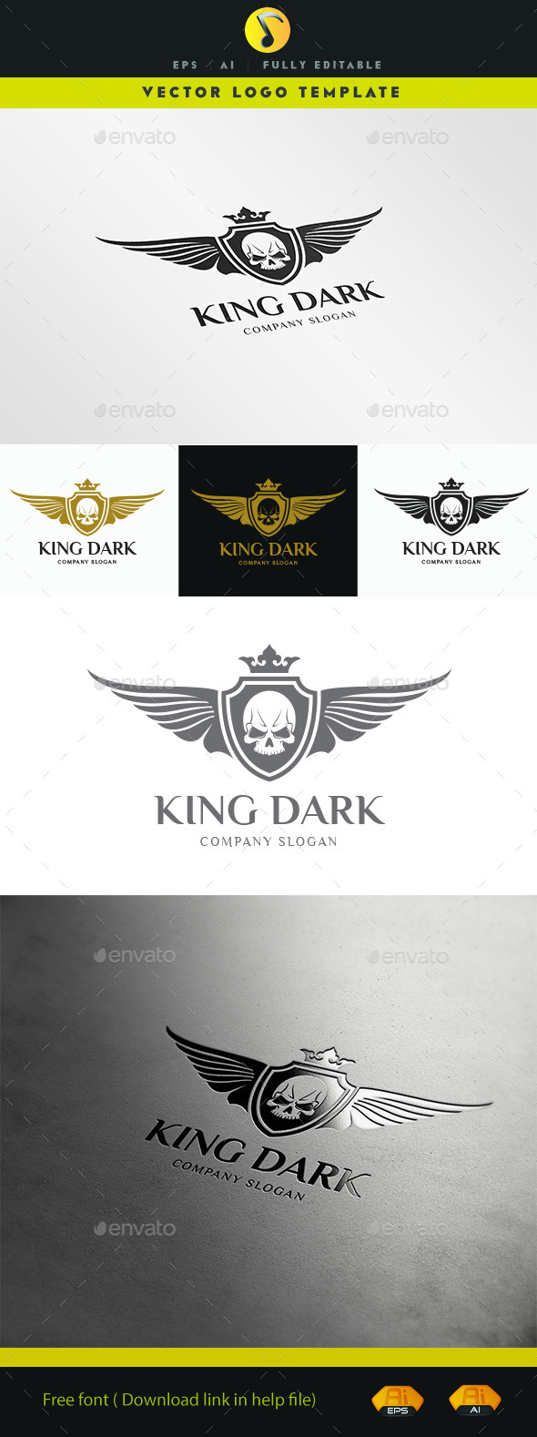 GraphicRiver King Dark Logo 11503211