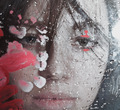 Beautiful woman behind wet glass - PhotoDune Item for Sale