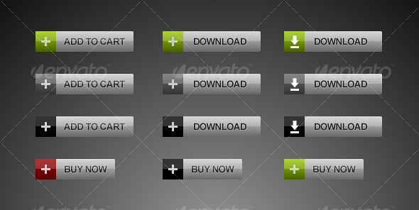 Web Buttons (Pack of 12) - Buttons Web Elements