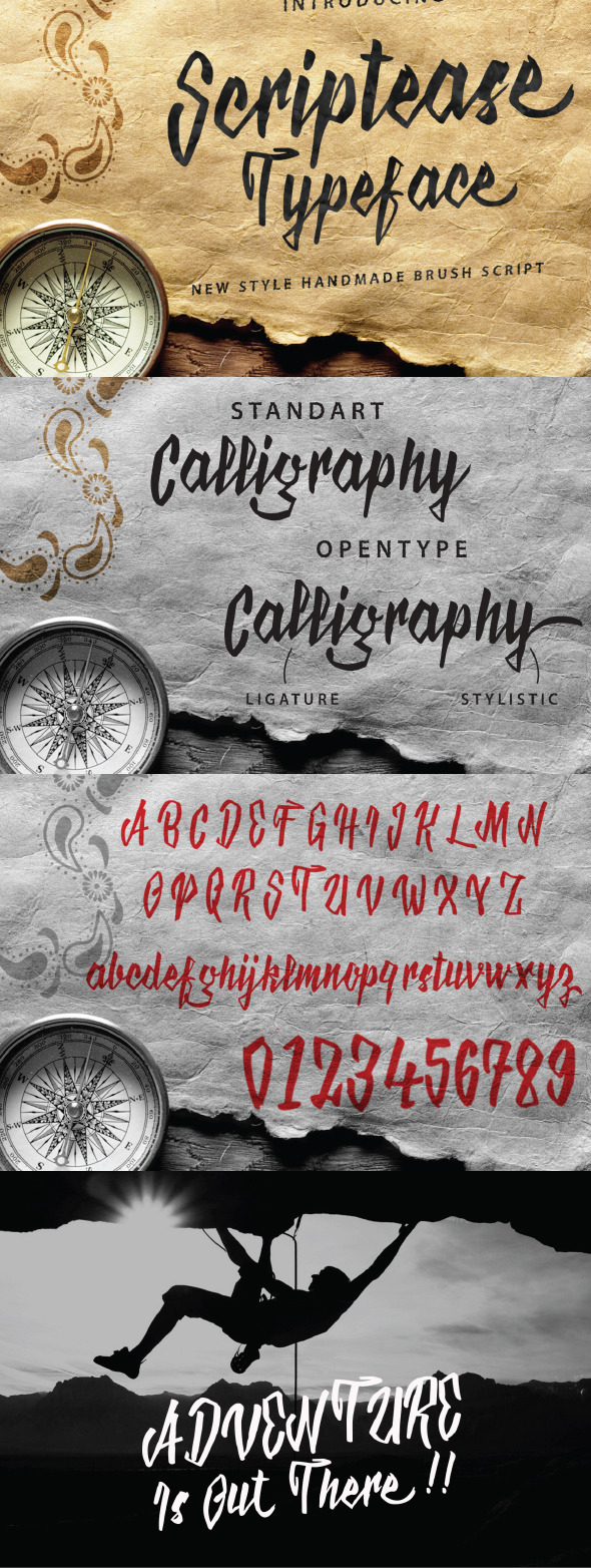 GraphicRiver Scriptease Typeface 11450471