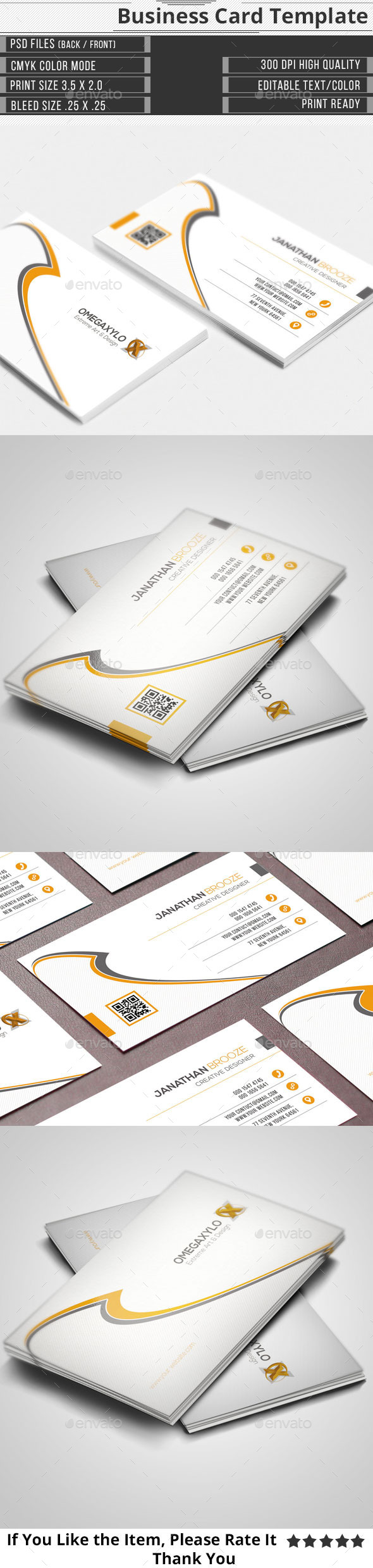 GraphicRiver Corporate Business Card 11504609