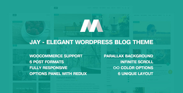 ThemeForest Jay Elegant WordPress Blog Theme 11505822