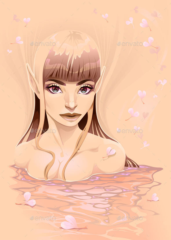 GraphicRiver Portrait of a Lady in the Water 11506027