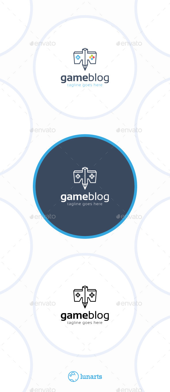 GraphicRiver Game Blog Logo Eagle 11506351