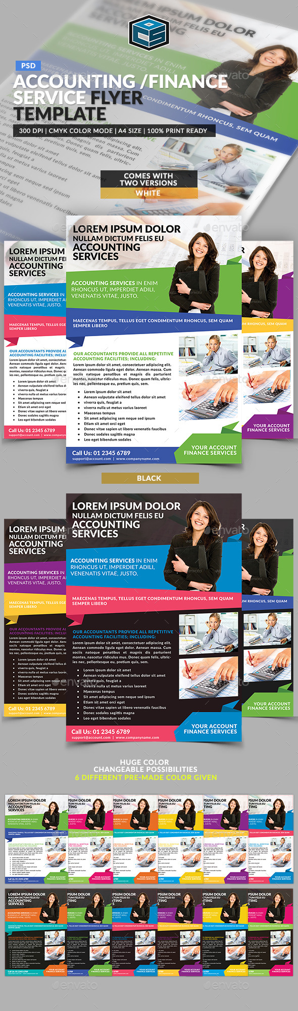 GraphicRiver Accounting Finance Service Flyer Template 11506353