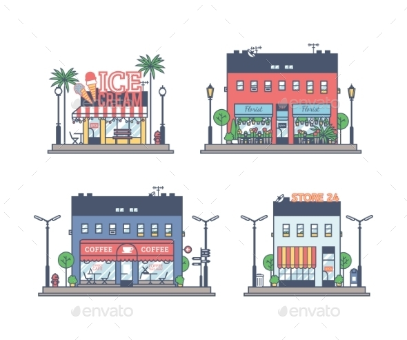 GraphicRiver The Set Of Stores 11506587