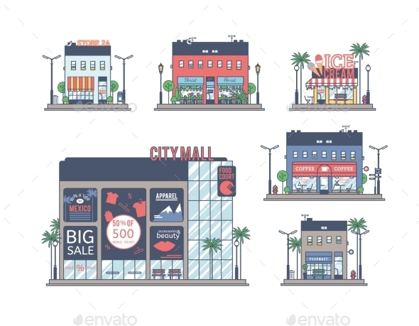 GraphicRiver The Set Of Stores 11506594