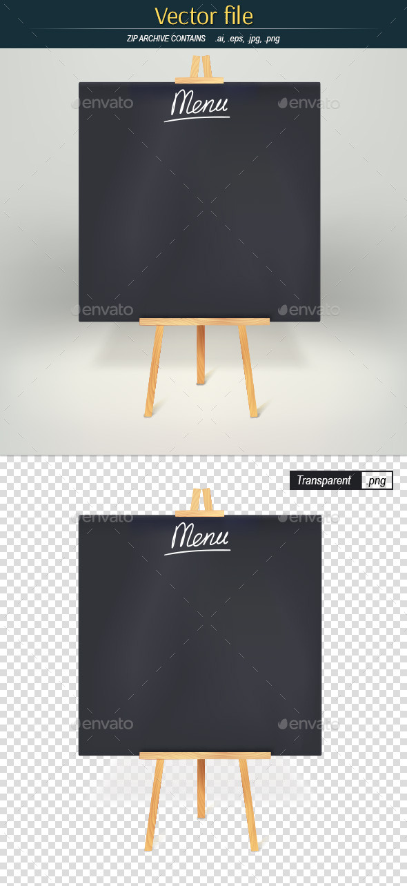 GraphicRiver Menuboard on Tripod 11506620