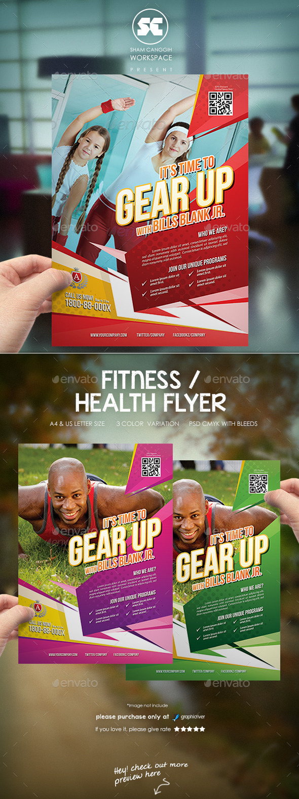GraphicRiver Fitness Health Flyer 11506651