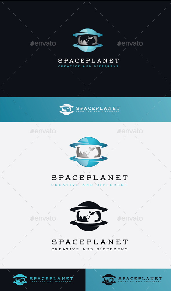 GraphicRiver Space Planet Logo 11506696