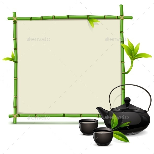 GraphicRiver Bamboo Frame with Tea 11506732