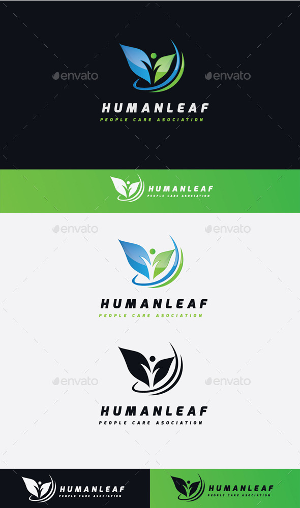 GraphicRiver Human Leaf Logo 11506741